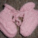 BRAND NEW Handmade Pink Infant Booties