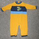 SIMPLY BASIC Yellow Speed Race One Piece Romper Boys Size 3-6 months