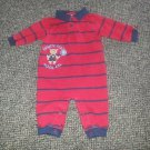CARTER'S Red and Navy Striped HANDY MAN Romper Boys Size 6 months