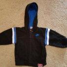 NIKE Black Hooded Zip Front Sweatshirt Boys Size 2T