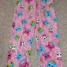 JOE BOXER Pink Skull Print Fleece Sleep Pants Girls Size 10-12