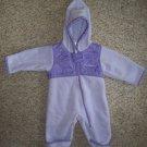 COLUMBIA Purple Fleece One Piece Infant Snowsuit Girls Size 6 months