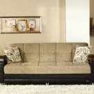 Laura Leather and Modern Fabric Sofa