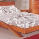 Eleanor Cappuccino or Cherry Platform Bed