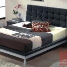 Florence Black Color Modern Platform Bed