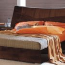 Juliana  Dark Brown Modern Design Platform Bed