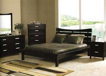 Olive  Modern Queen platform bed