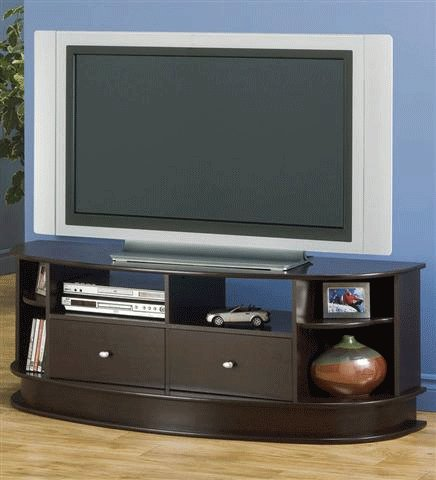 Andreana Cappuccino w/2 Drawers Tv Stand