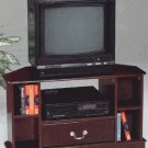 Annetta Cherry finish TV stand with storage