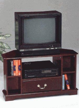 Annetta Cherry finish TV stand with storage