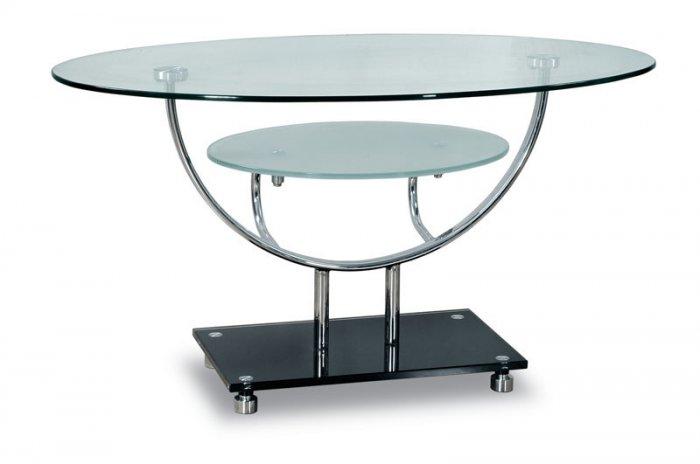 Aurelia Contemporary Tv Stand With Oval Glass