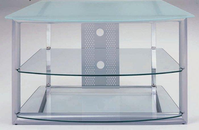 Benjamin Extra Modern Glass / Metal TV Stand