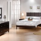 Contemporary Cappuccino Finish Bedroom set