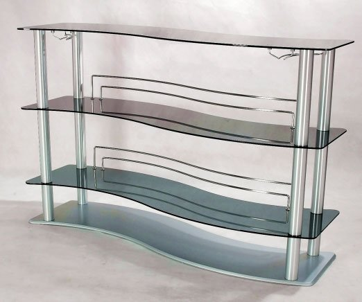 Pavilion  Curved Bar w/Gray Glass