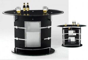 Black Finish Bar Unit