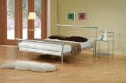 Contempoarary Metal Silver Queen Bed