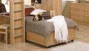 Chestnut Single Modern Platform Bed