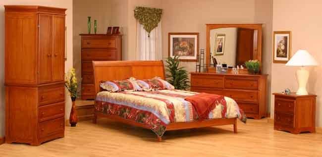 Bordeaux Modern Platform bed