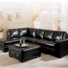 C 500621 //  Roma Collection Leather Sectional by Coaster