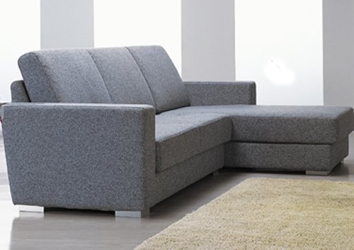 BN_Paria // Paria Grey Fabric Sectional Sofa