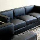 Le Corbusier Black Leather Sofa