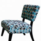 Club   Chair  in   Pattered   Fabric