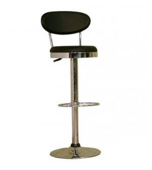 Achilla Black Adjustable Barstool