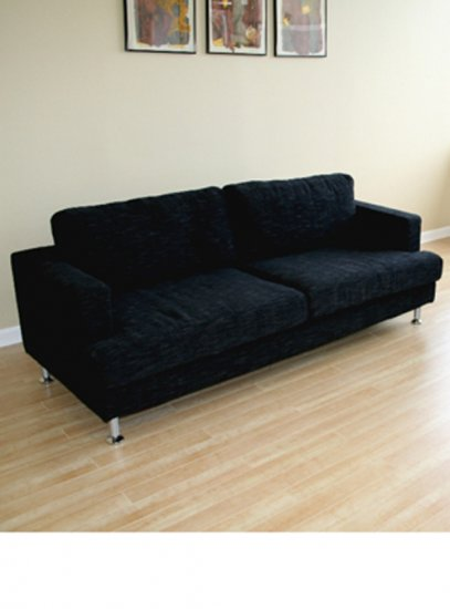 Laredo Modern Twill Sofa in Black