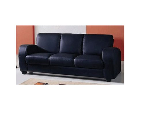 Regal Leather Sofa Black