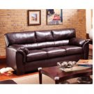 Modern Dark Brown Leather Sofa