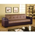 C-300155 //  Fushia Microfiber and Leather Reclining Sofa