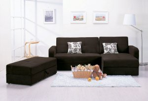 ACM Mulberry 5770-SET-1 //  Mulberry Sectional Sofa Set with Storage and Pillows