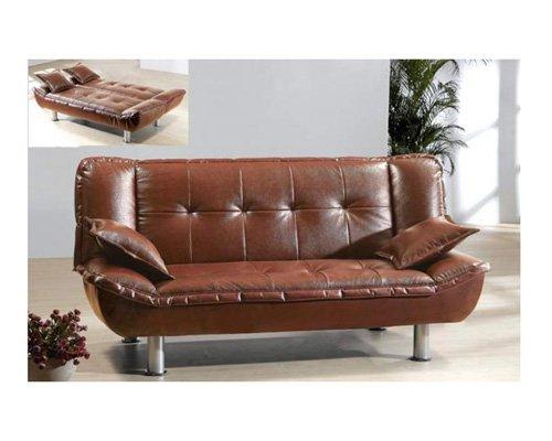 AE_005_b-y // Tribeca burgendy Modern Leatherette Sofa Bed