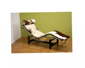 Le Corbusier Chaise Lounge in Pony Skin