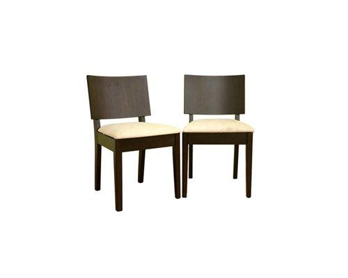 Corrina Dark Brown Wooden Chair Set of 2