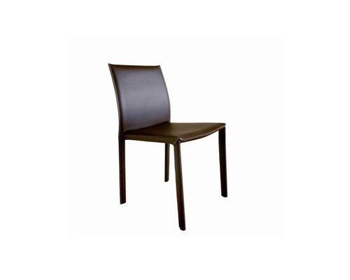Brown Burridge Leather Dining Chair