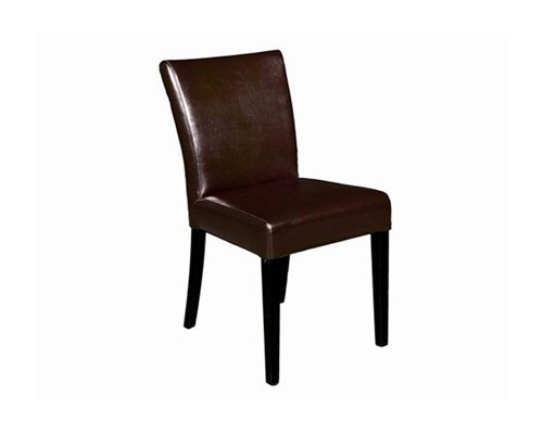 Dark Brown Full Leather Dining Chair