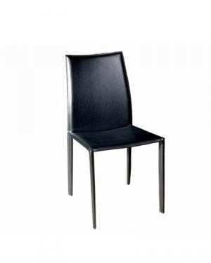 Rockford Black Leather Dining Chair