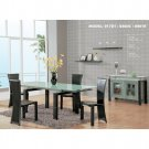 Dining Room -Dinette set with extendible rectangular table