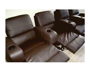 wsi- HT638 // Row of 4 - Showtime Theatre Sectional - Brown