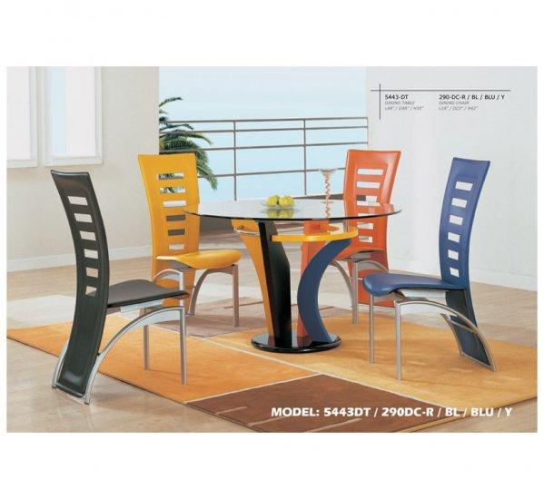 Coloured Dining Room Set (5 pcs set)