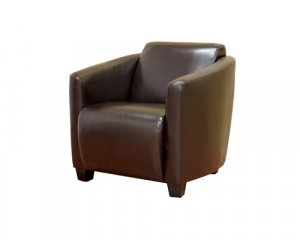 Comsy Brown Bonded Leather Club Chair