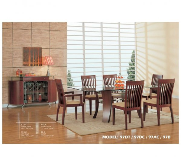 Cherry Color Finished Dining set