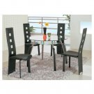 Bross Black Modern Dining Set