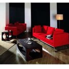 Red 3-Piece Sofa Set