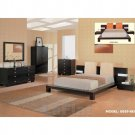 Modern Design Brown Finish Bedroom Set