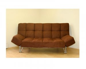 JM-Uptown (203_171)  //  microfiber Light Brown klick klack Futon sofa bed Uptown