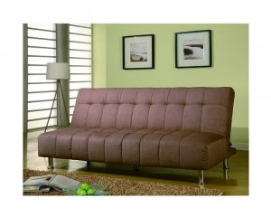 C_300119 // Tan Microfiber SOFA BED - C  19