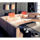 WSI-CF-01  //  Contemporary Bright Sunrise Sectional Sofa Set