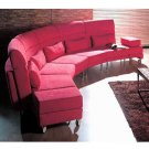 WSI-CF-55  //  Curvature Microfiber Modern Sectional Sofa